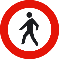 Señal de tráfico Prohibido el paso a peatones